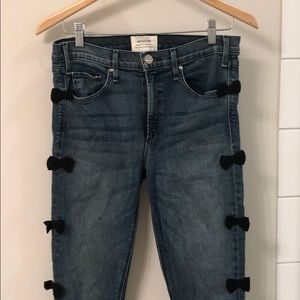 McGuire Skinny Jeans with navy blue bows